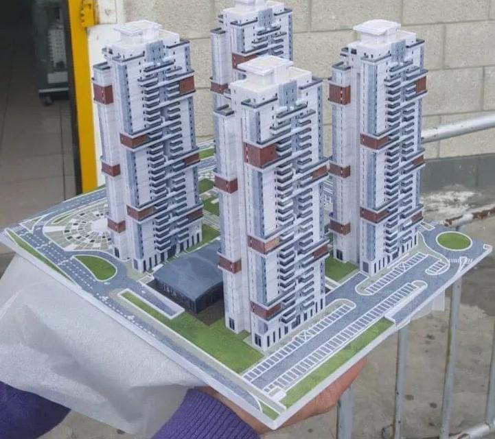 בניינים בתלת מימד (מודל)